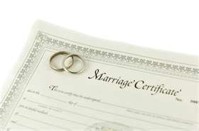 Picture of a marriage certificate