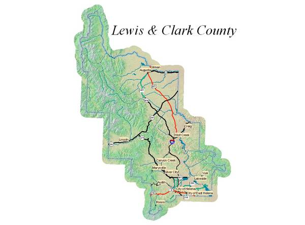 Map Image of Lewis & Clark County, Montana