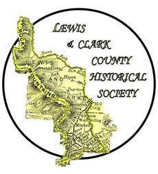 map of Lewis and Clark county as a logo