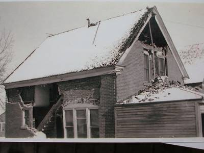 Photo of 6th Ward House After Earthquake