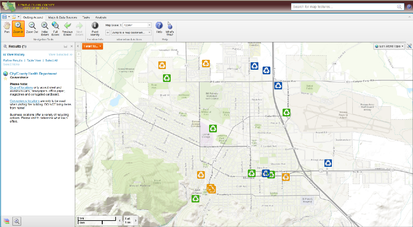 Recycling Interactive Mapping Site Updated